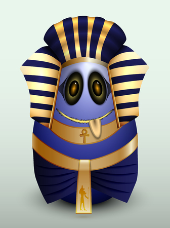 gullible: Egg young Prince of Egypt with a Golden girdle. Illustration