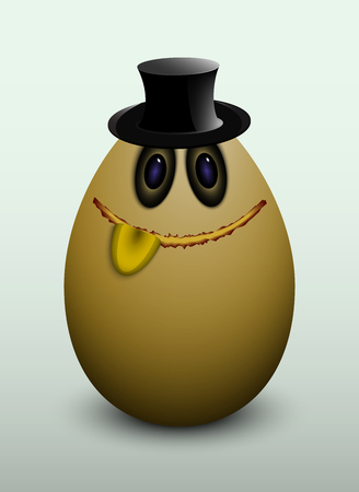Citizen egg. Working in the hat. Toy.