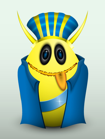 gullible: Egg in blue clothes and with Golden horns.