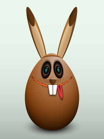 gullible: The egg in the mask Easter Bunny.