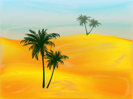 dunes: Styling of the desert with palm trees