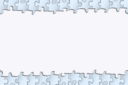 banded: Horizontal strip of paper for your design banded surround elements of the puzzle