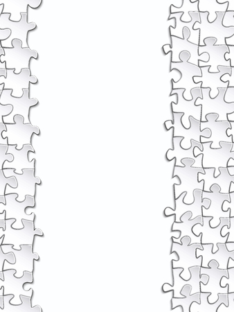 banded: Vertical strip of paper for your design banded surround the elements of the puzzle