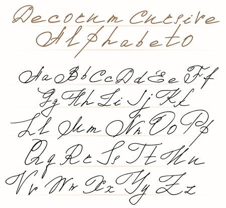 Number Names Worksheets : alphabetical letters in cursive ~ Free ...