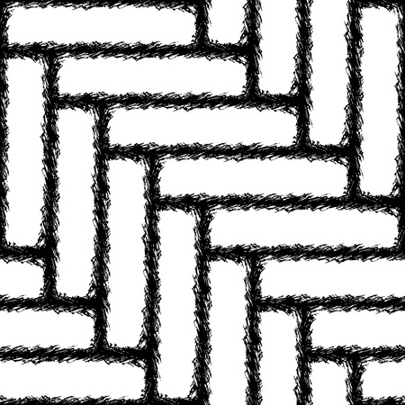 transverse: Seamless Chevron pattern texture in black and white in the form of transverse strips of rough stitched cloth