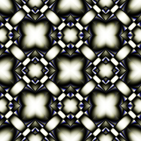 oriented: Complex fractal seamless pattern of diamonds with a pale yellow-blue chrome glitter Illustration