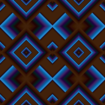 grille: Dark matte seamless pattern of diamonds shining blue