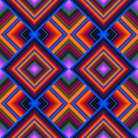 bunte helle nahtlose Muster von Rauten Streifen Illustration