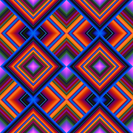 colorful bright seamless pattern of rhombuses stripe