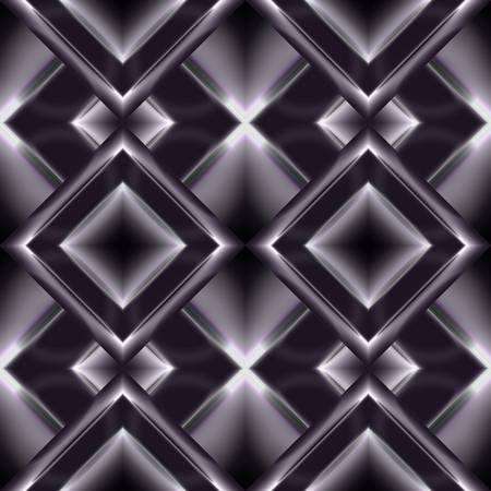 grille: Monochrome seamless pattern of faceted diamonds with a metallic luster dark violet