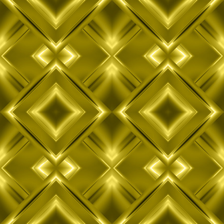 Monochrome seamless pattern of diamonds in the form of Golden aluminum foil with the shiny elements and refraction of light