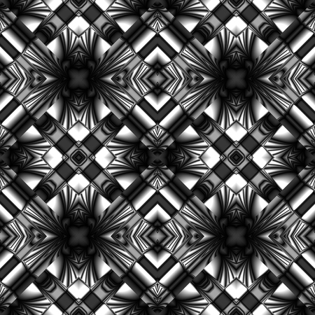 stylish seamless pattern made of metal reflecting elements rhombic structure Illustration