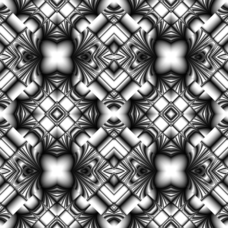 rhombic: stylish seamless pattern made of metal reflecting elements rhombic structure Illustration
