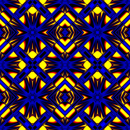 refracting: stylish seamless pattern reflecting and refracting elements of the rhombic structures in fire colors