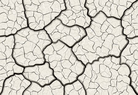 dry cracked mud with layered depth cracks seamless pattern Imagens - 80975855