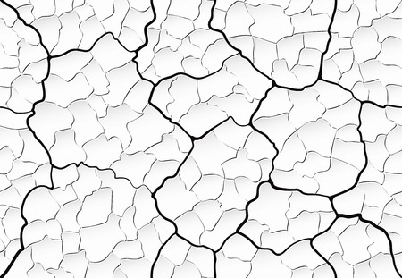 swollen peeling old plaster wall with cracks and chips seamless pattern