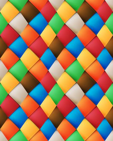 folksy: Variegated silk asymmetrical patchwork seamless pattern with skewed vertical Material design