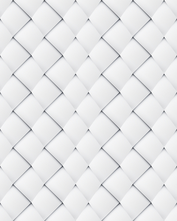 folksy: White paper asymmetric patchwork seamless pattern intertwined with a vertical shift Illustration