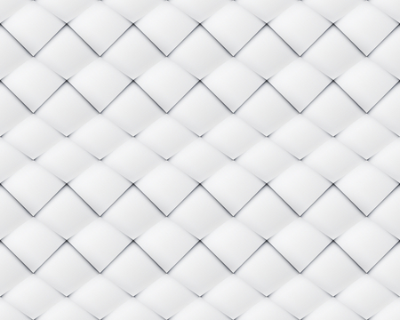 folksy: White paper asymmetric patchwork seamless pattern with waves with horizontal shift Illustration