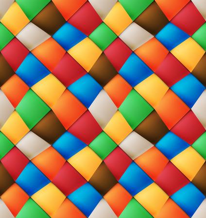 Variegated silk asymmetrical patchwork seamless pattern