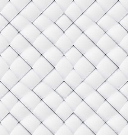 White paper origami stylized seamless pattern interwoven