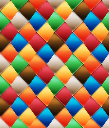 folksy: Mottled glazed asymmetric patchwork seamless pattern