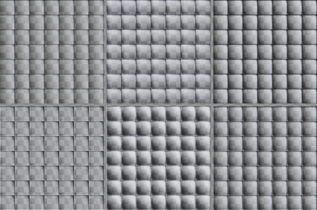 Colorless set of square tiles