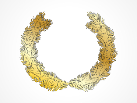 Wreath of the winner of the Golden palm branches for congratulations and design