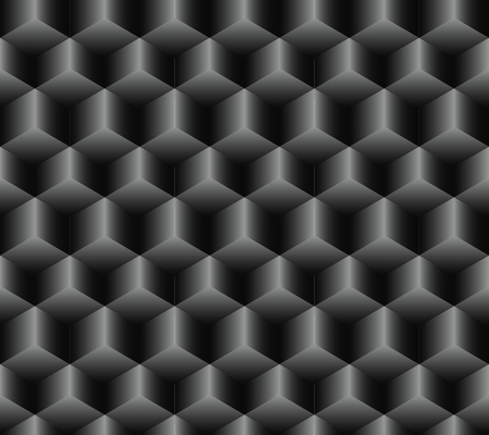Seamless pattern of cubes of different sizes lying sharp shining edge up 向量圖像