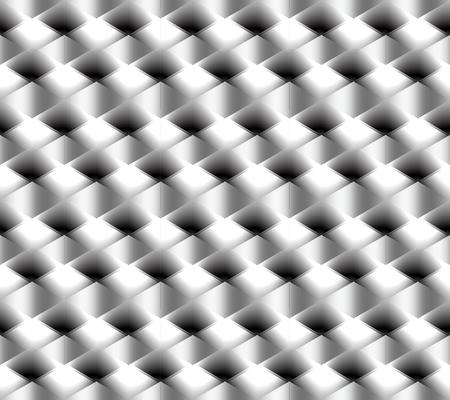 Gloeiend abstract naadloos patroon van diamanten met lichte en donkere elementen en kruispunten