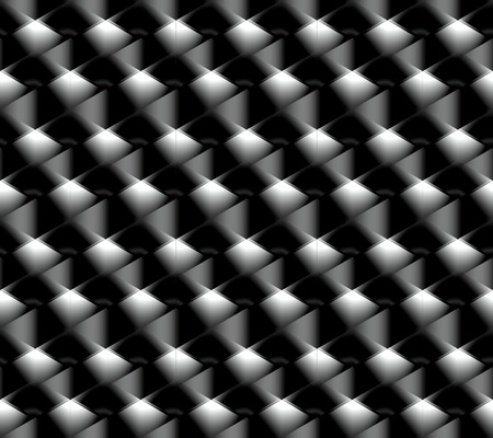 Seamless pattern of striped diamonds in the form of a volume mesh with sharp edges