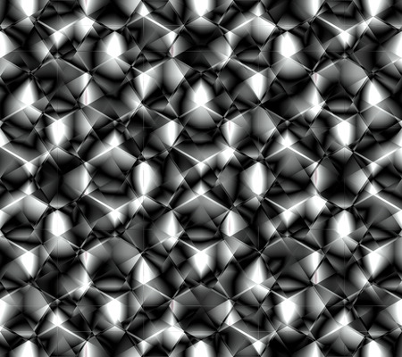 Abstract seamless pattern simulating complex surface abrasive diamond grinding or any complex crystal lattice of metal