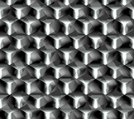 Abstract seamless pattern simulating acute structural abrasive surface diamond grinding or any complex crystal lattice of metal Çizim