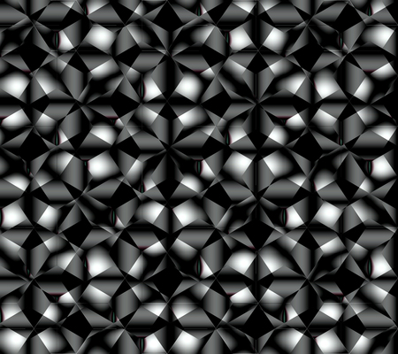 Abstract seamless pattern simulating complex surface abrasive diamond grinding or any complex crystalline lattice of dark color