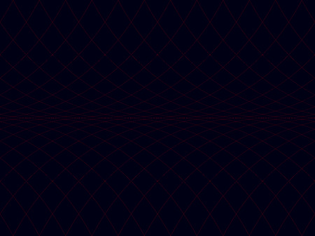 Abstract seamless pattern of red horizontal scrolling grid on a dark blue background