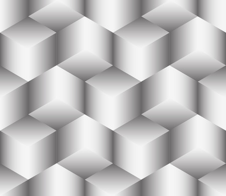 The illusion of multi-directional blocks like molecules of salt. Seamless pattern