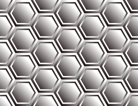Metal seamless hexagon pattern, double folded look like futuristic armor