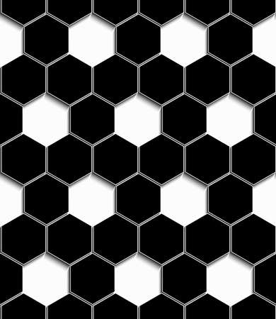 The perforated three-dimensional geometric pattern design.