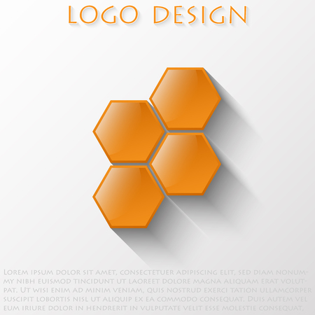 Orange surround the hexagons with a convex reflective surface.
