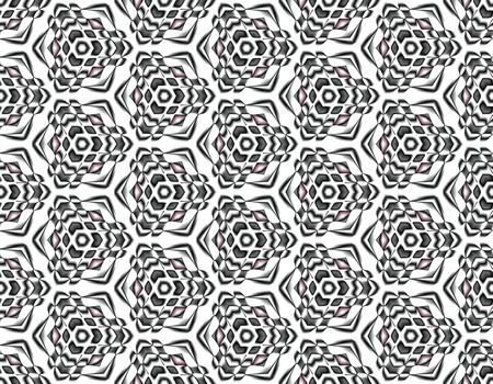 Contrast seamless pattern of snowflakes with petals of flowers on an interesting background for design sites. Иллюстрация