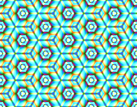 Psychedelic seamless picture of geometric shapes with abstract elements on an interesting background for modern design Stock Illustratie
