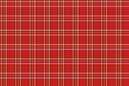 Scottish classic seamless pattern. Transverse yellow and white stripes on bright red background