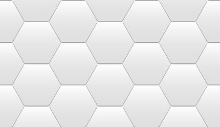 Geometric seamless pattern of light hexagonal tiles with tile effect