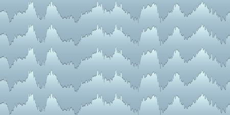 Illustration of the impingement of multilayer creamGeometric seamless illusion in blue tones of abstract wavy lines with Shepard tone effect