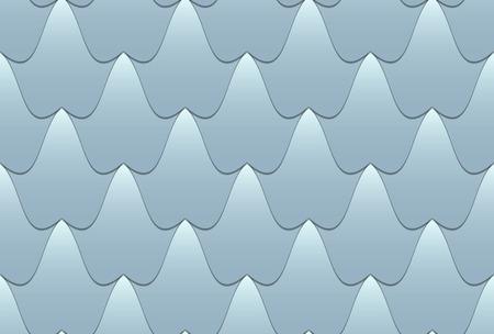 Light blue shingles wavy shapeSeamless vector background similar to the sea