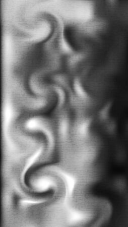 Abstract image of smoke diffusion in the air. Twisting in spiral patterns. Crumpled silk fabric on the bed Ilustração