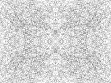 Abstract black and white seamless pattern. Symmetrical traces of skates on the ice. Chaotic pattern from the web