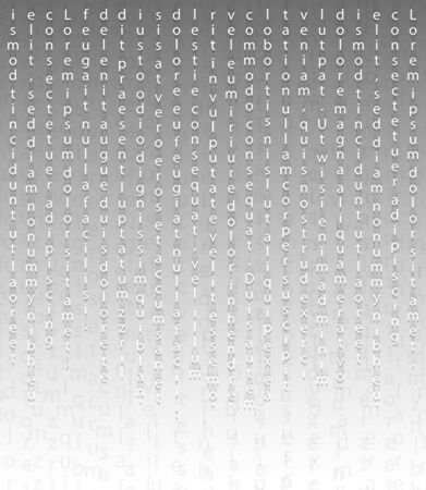 White falling letters on a light background in the Matrix style. Cryptography table