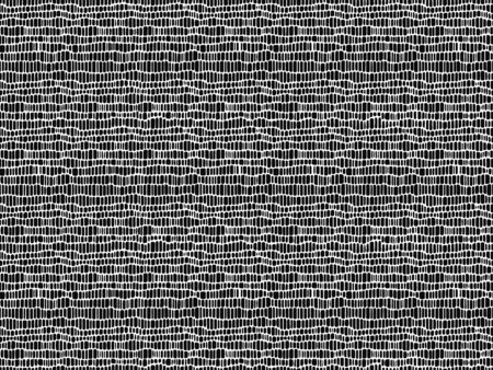 Mesh seamless pattern. Thin white wavy stripes on a black background.