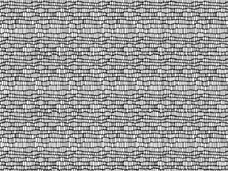 Mesh seamless pattern. Thin black wavy stripes on a white background. 向量圖像